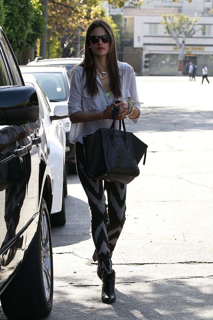 Alessandra Ambrosio Shops as the Latest Victoria's Secret Catalog Makes Its Debut