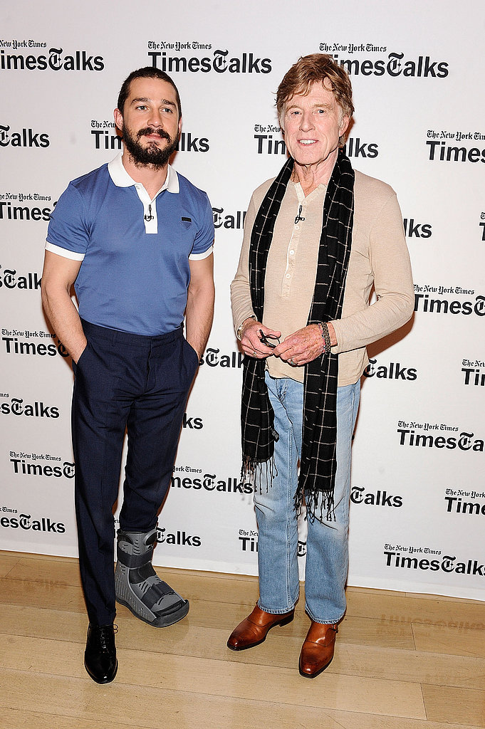Robert Redford and Shia LaBeouf attended TimesTalks in NYC.