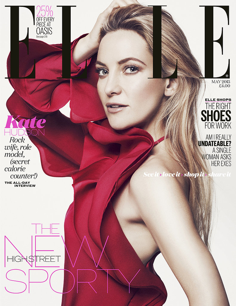 Kate Hudson covers the May 2013 issue of Elle UK. Full interview appears in the May issue of Elle UK, on sale Wednesday, April 3. Also available as a digital edition. Source: Benny Horne, courtesy of Elle UK