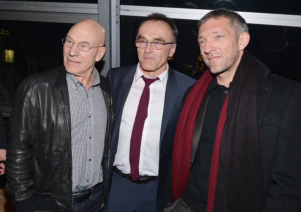Photo of Vincent Cassel & his friend actor  Patrick Stewart - United States