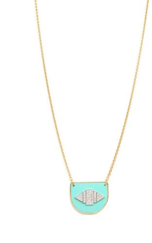 Sandy Hyun Teal Arc Pendant