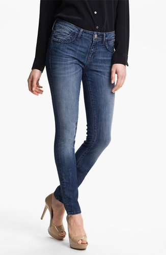 Mavi Jeans 'Alexa' Braid Trim Jeans (Dark)