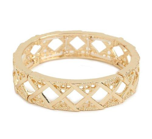 Gold Criss Bangle