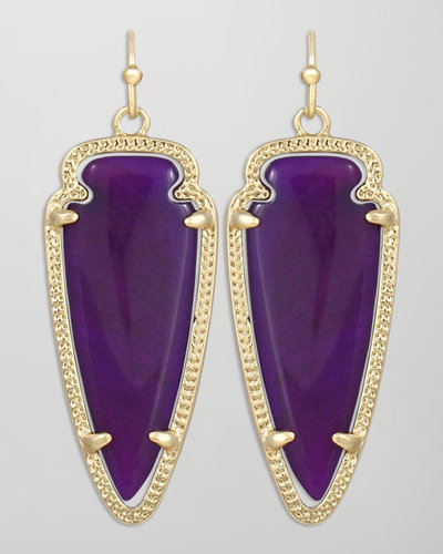 Kendra Scott Small Sky Arrow Earrings, Purple
