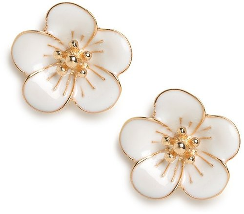 White Bloom Studs