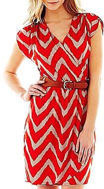 Belted V-Neck Wrap Dress