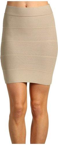 BCBGMAXAZRIA - Simone Bandage Skirt (Khaki) - Apparel