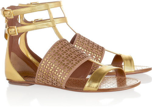 Alaïa Metallic leather sandals