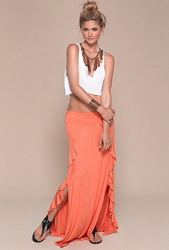 The Collection by L*Space Seville Maxi Skirt in Coral