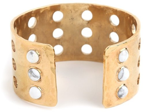 Kelly Wearstler Howlite Cabochon Perforated Cuff
