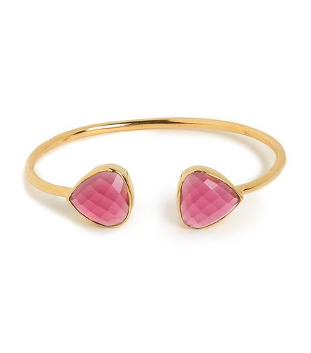 Margaret Elizabeth Pink Tourmaline Teardrop Bangle