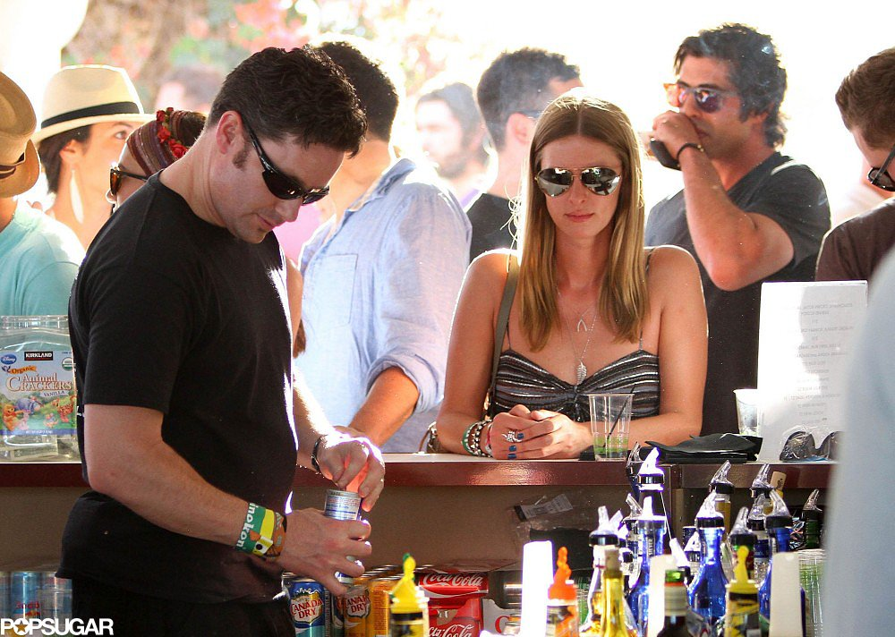 In 2011, Nicky Hilton cooled off with a drink.
