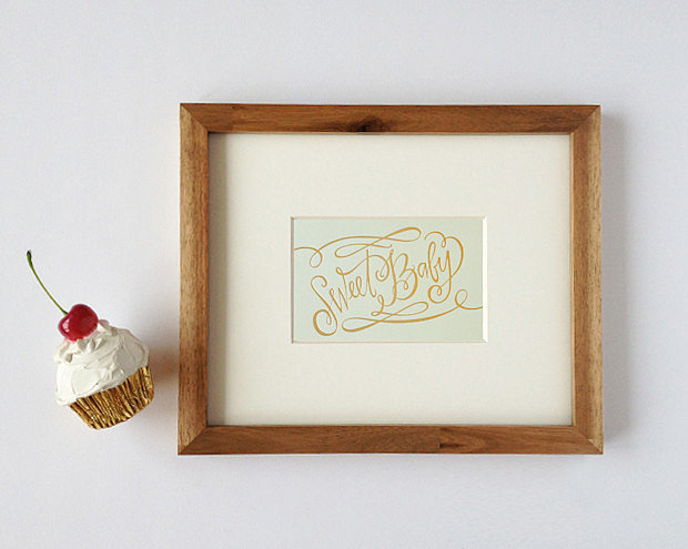 Lindsay Letters' Sweet Baby mini print ($6).