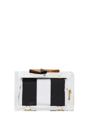 Lucite Box Clutch