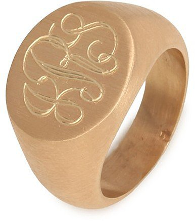 Monogram Signet Ring (Ships 3 Weeks from Order Date)