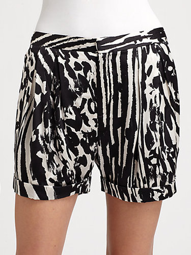 By Malene Birger Silk Print Shorts
