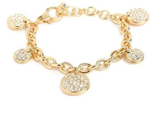 Gold Multi-Disk Bracelet