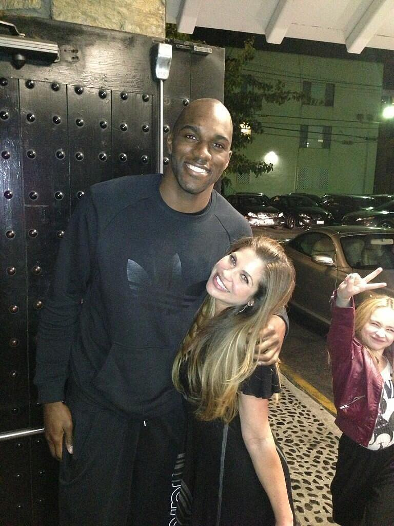 They ran into Quincy Pondexter there, because the Memphis Grizzlies shooting guard also loves garlic shrimp. Source: Twitter user daniellefishel