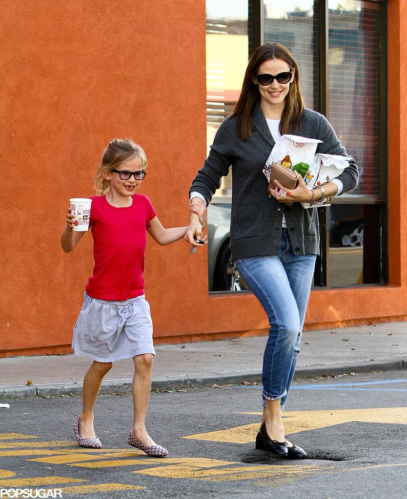 Jennifer Garner and her oldest daughter Violet Affleck grabbed a McDonald's happy meal in LA in April 2013.
