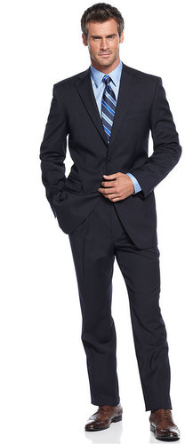 Jones New York Suit, 24/7 Navy Solid