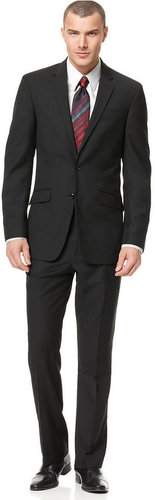 Kenneth Cole Reaction Suit, Black Solid Slim Fit