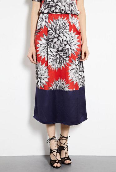 Alexis Barrell Midi- Length Floral Printed Skirt