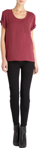 Rag & Bone Justine Crop Straight Leg Jeans- Black