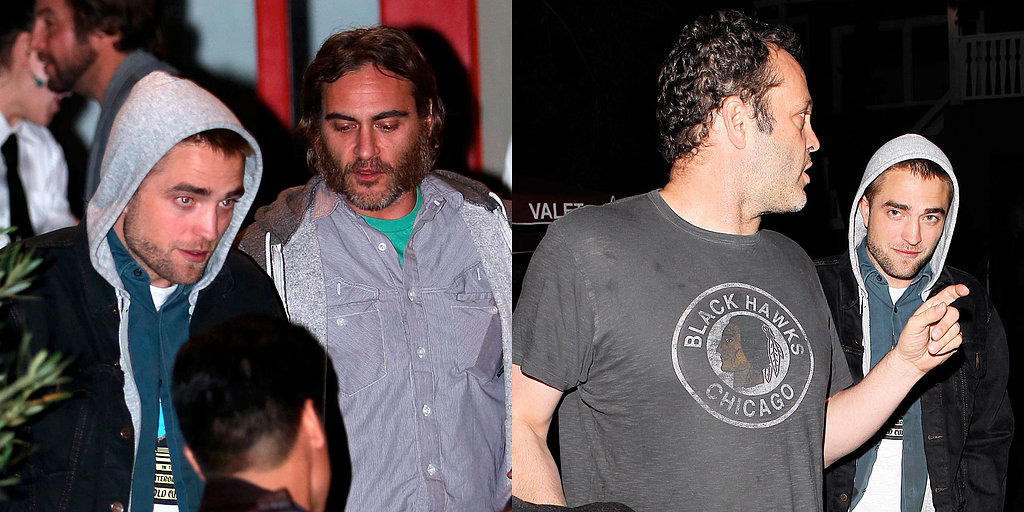 Robert Pattinson Has a Guys' Night Out With Vince Vaughn and Joaquin Phoenix