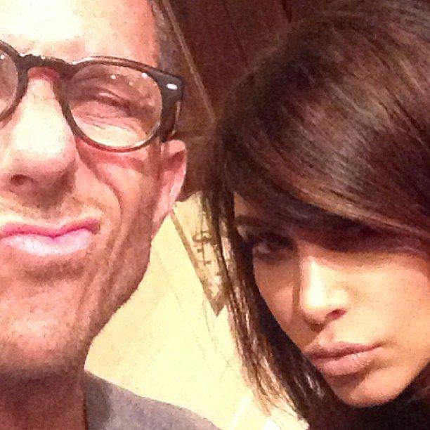 Celebrity hairstylist Chris McMillan gave us a peek of presenter Kim Kardashian's look for the MTV Movie Awards. Source: Instagram user mrchrismcmillan