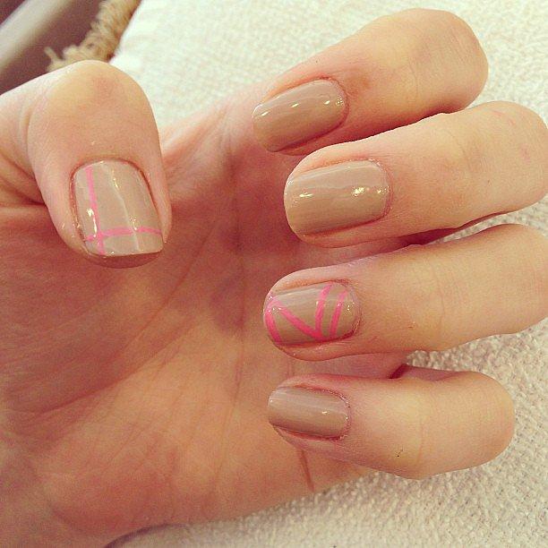 Chloë Moretz showed off her nude-and-pink manicure for the MTV Movie Awards. Source: Instagram user cmoretz