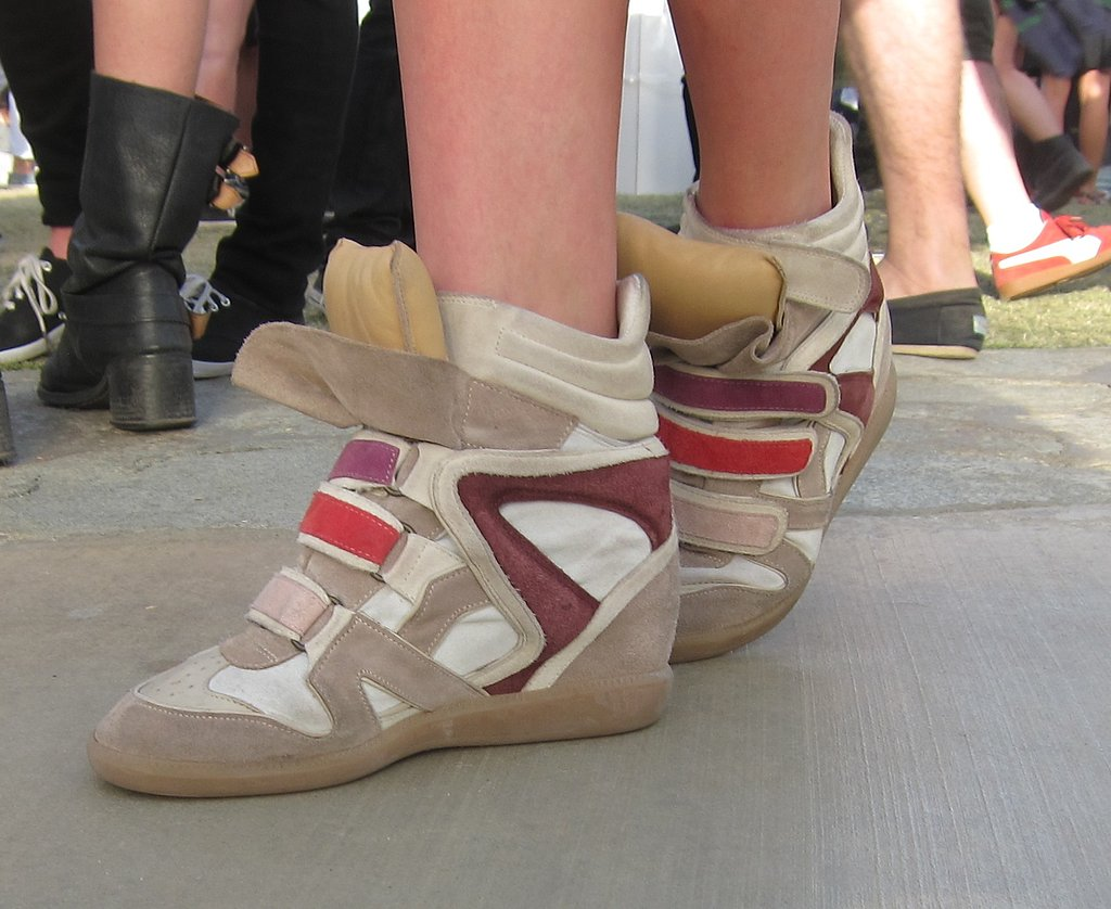The Isabel Marant Bekket sneakers quickly became a staple at Coachella.