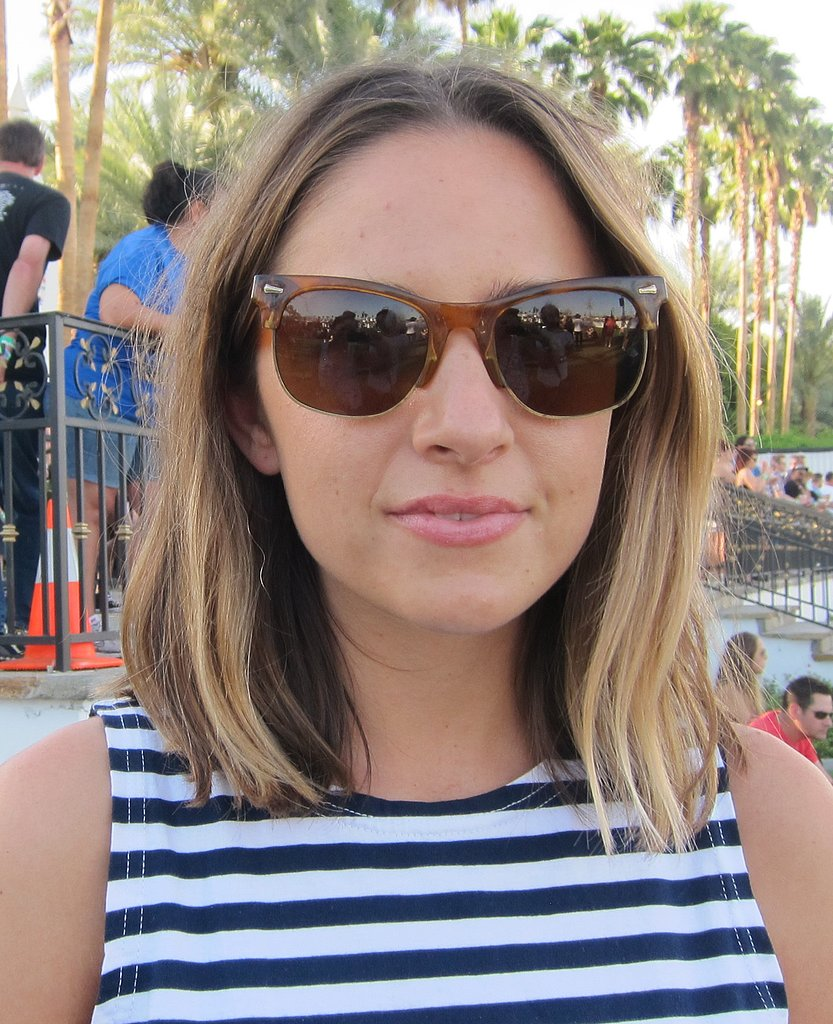 Classic tortoiseshell sunglasses are eternally cool.