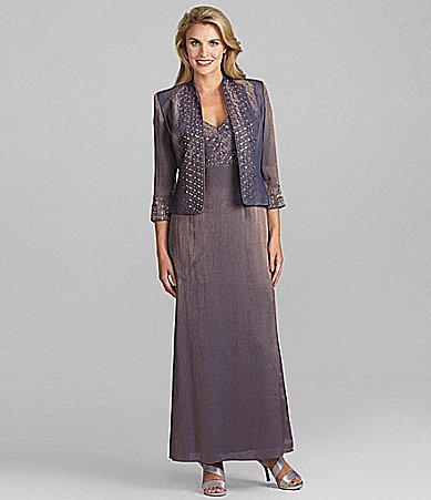 KM Collections Taffeta Jacket Dress