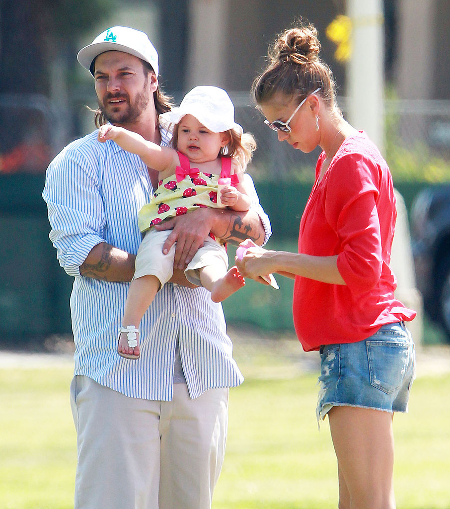 Kevin Federline and his girlfriend, Victoria Prince, watched his sons Sean Preston and Jayden James play soccer in LA with their daughter, Jordan.