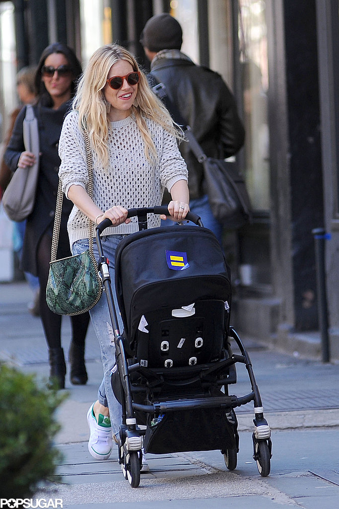Sienna Miller smiled amid an NYC Saturday stroll with her daughter, Marlowe.