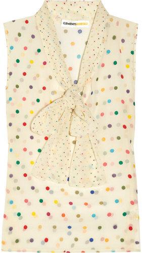 Clements Ribeiro Elizabeth polka-dot silk-blend chiffon blouse