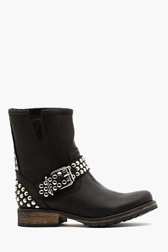 Frankie Studded Boot - Black