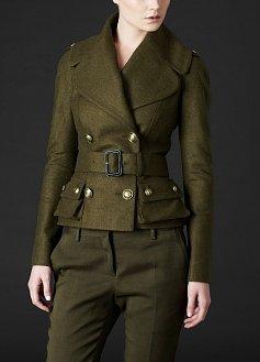 Oversize Collar Military Jacket