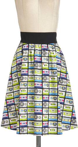 Music in Me Skirt in Mix Tape