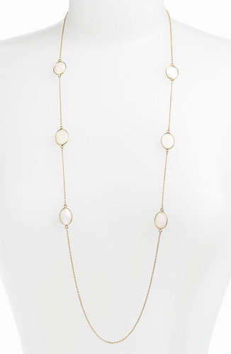 Argento Vivo 'Bauble Bar' Long Oval Stone Station Necklace (Nordstrom Exclusive)