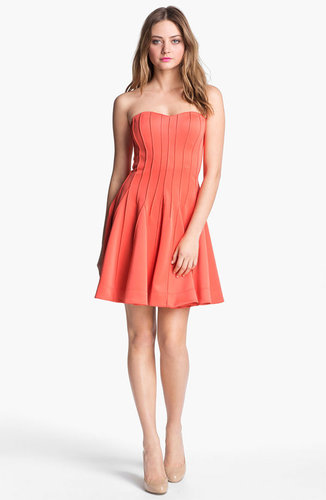 Betsey Johnson Seamed Fit & Flare Dress
