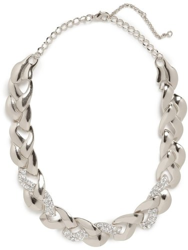 Silver Ice Braid Collar