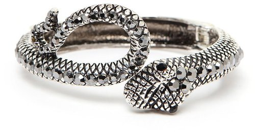 Silver Snake Cuff