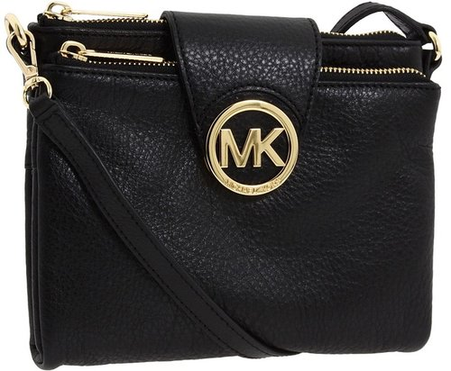 MICHAEL Michael Kors - Fulton Large Crossbody (Black) - Bags and Luggage