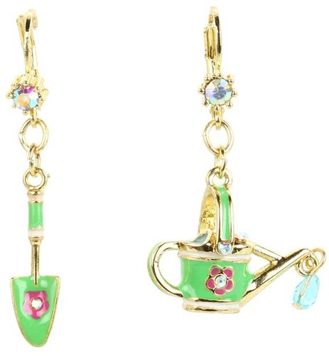 Betsey Johnson - Garden Party Shovel Pail Earrings (Multi) - Jewelry