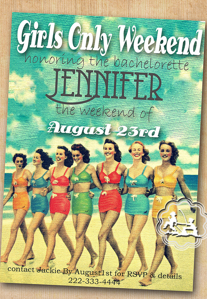 Retro Beach Invitation