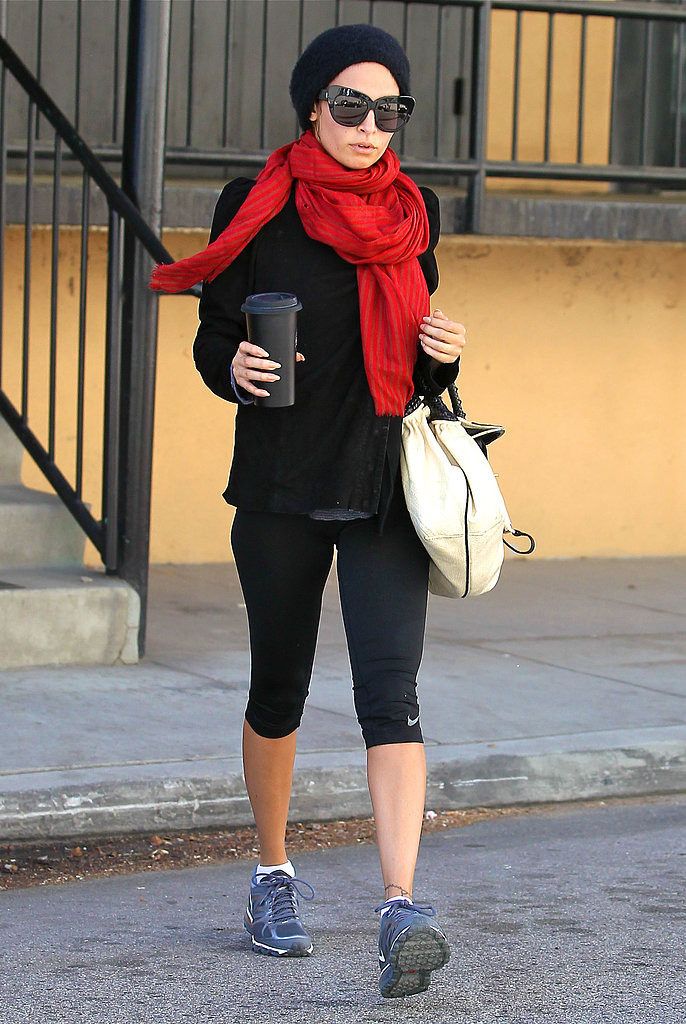 Nicole Richie stopped by the gym in LA after her St. Barts trip.