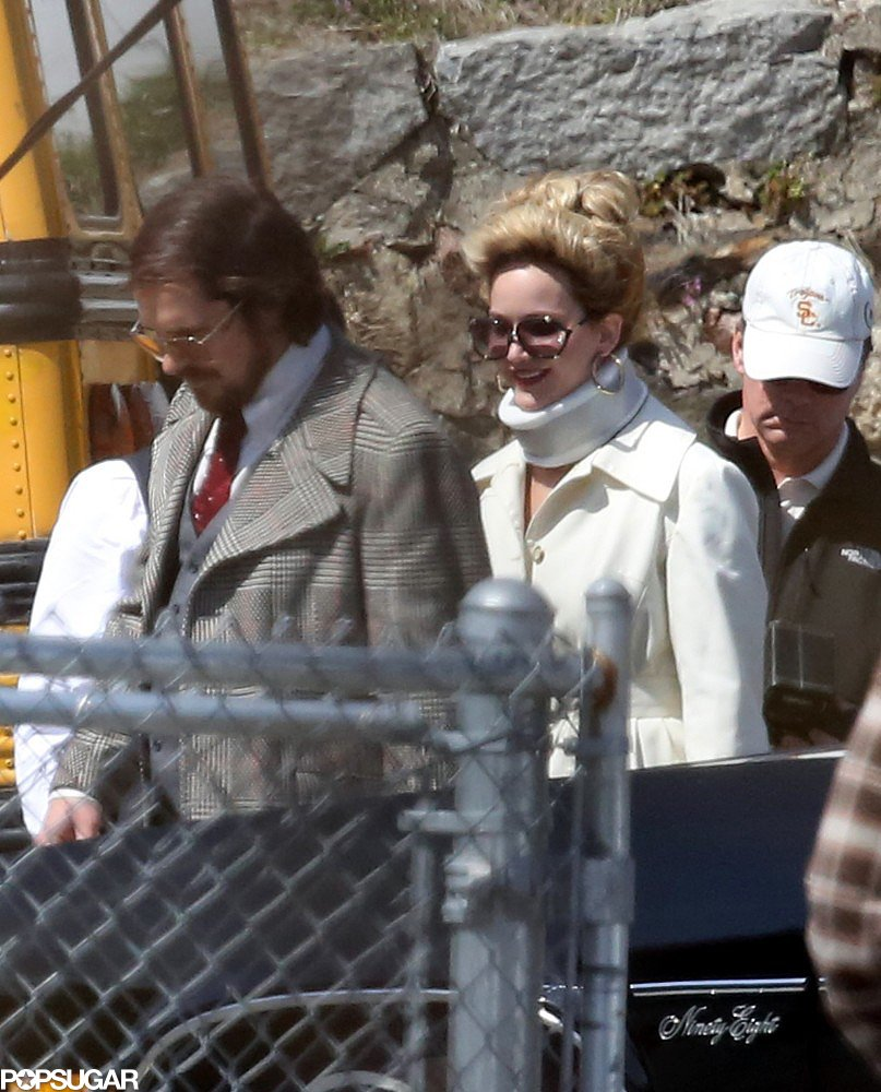 Jennifer Lawrence and Christian Bale were on set together in Boston.