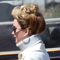 Jennifer Lawrence Wears Neck Brace on Set in Boston