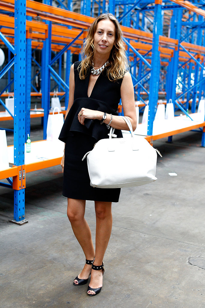The easiest way to add a Spring pop to your look? Accessorize with a white bag.